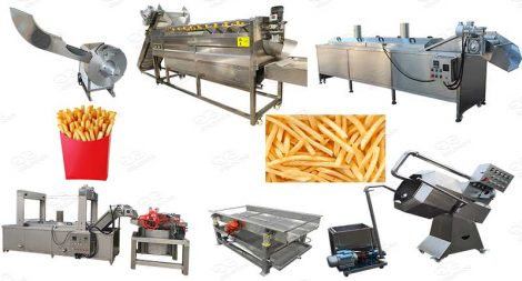 automatic french fry production line