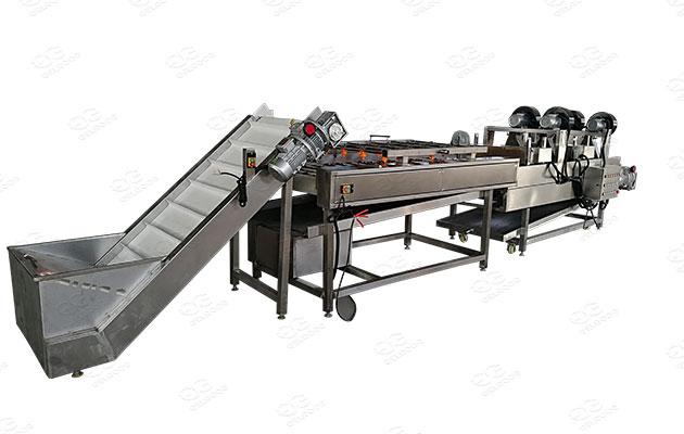 industrial potato washing line