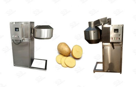 commercial cutting machine for potatoes and other vegetables and fruits