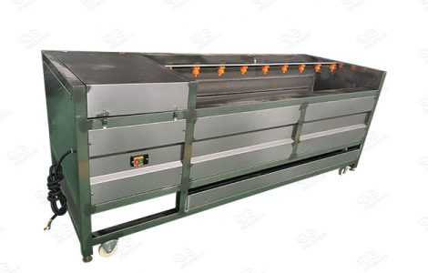 washing and peeling machine for vegetable and fruit
