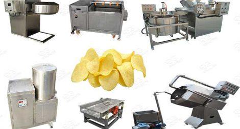 semi automatic potato chips plant