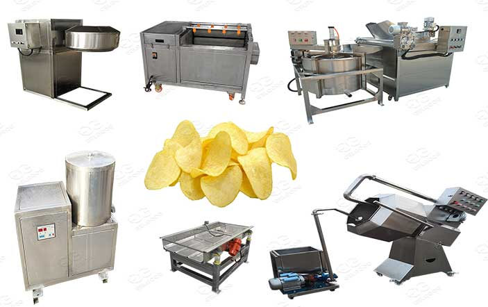semi automatic potato chips plant