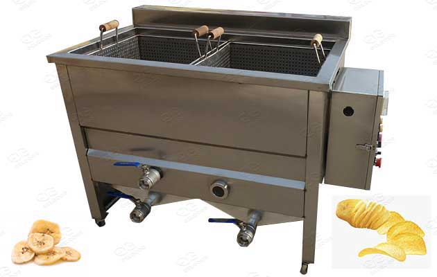 basket type chips frying machines for sale