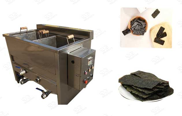 seaweed chips frying machine