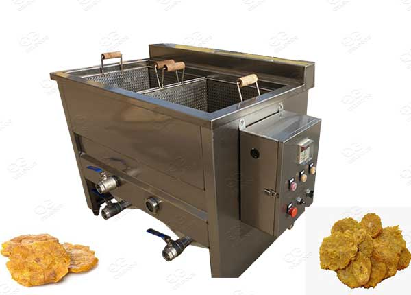 deep fryer for flattened plantain chips