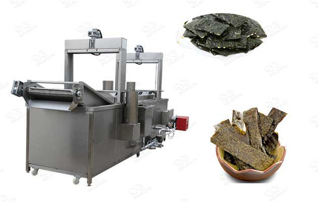 seaweed chips continuous fryer machine