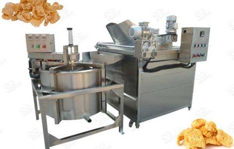 industrial pork rinds frying line