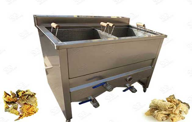 fish skin chips frying machine