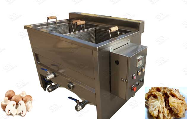 commercial mushroom frying machine in factory