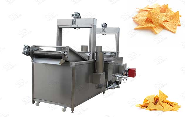 large scale corn tortilla chips frying machine for sale