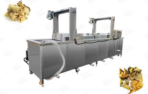 continuous frying machine for fish skin
