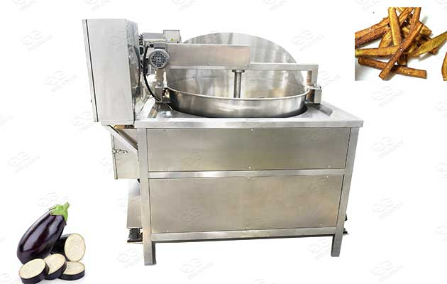 eggplant fryer in factory