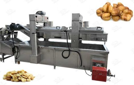 fava beans frying line