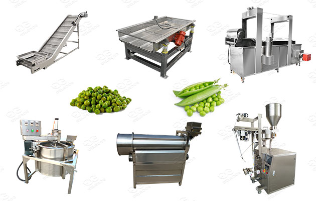 industrial green peas frying machinery