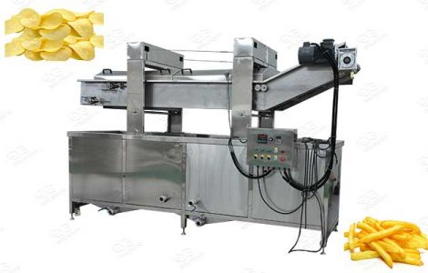 commercial chips and french fries frying machine