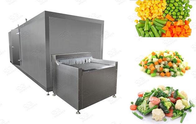 frozen vegetable processing line