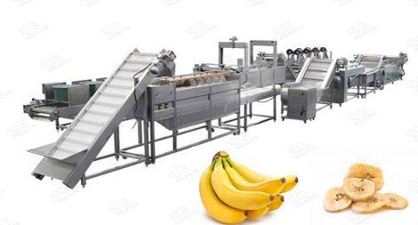 banana chips line