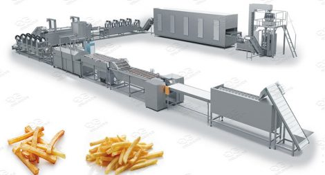 frozen french fries line machinery