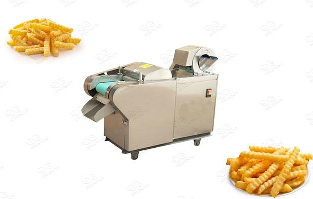 industrial crinkle fries chopping machine